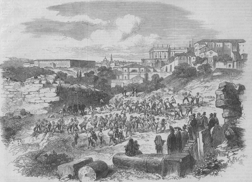 Associate Product MADRID. The revolution in Spain; demolition of the old city walls. Spain, 1868