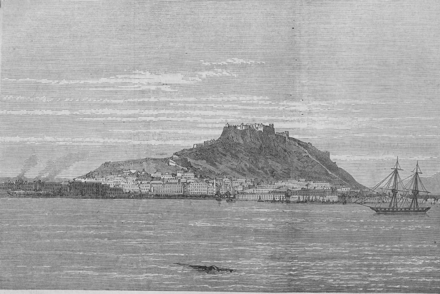Associate Product The Civil war in Spain. Alicante, bombarded by the Intransigentes, print, 1873
