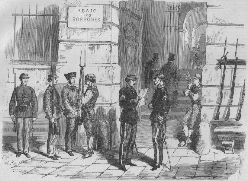 Associate Product MADRID. Revolution in Spain. Volunteers of liberty in the Puerta del Sol, 1868
