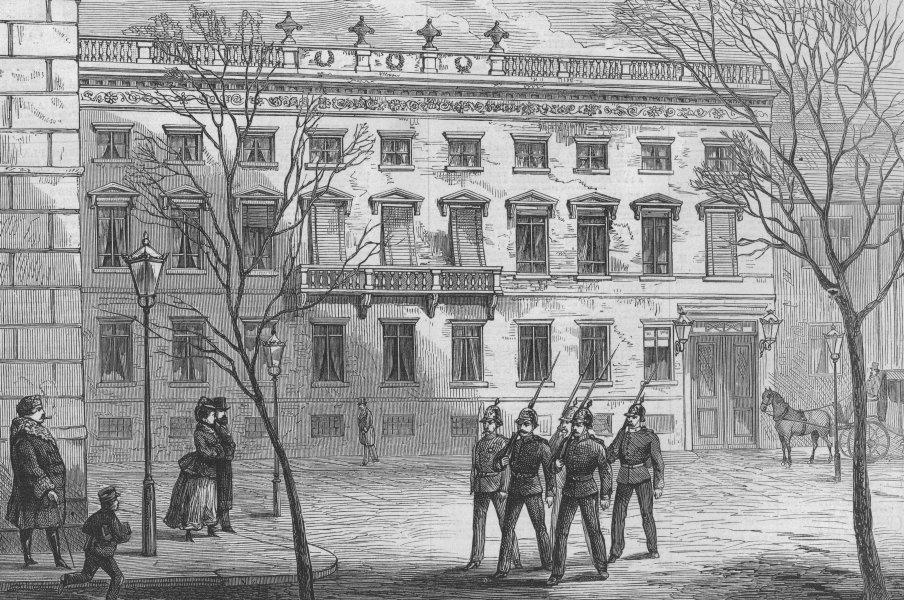 Associate Product BERLIN. Count Ludwig von Arnim's residence on the Pariser-Platz. Germany, 1874