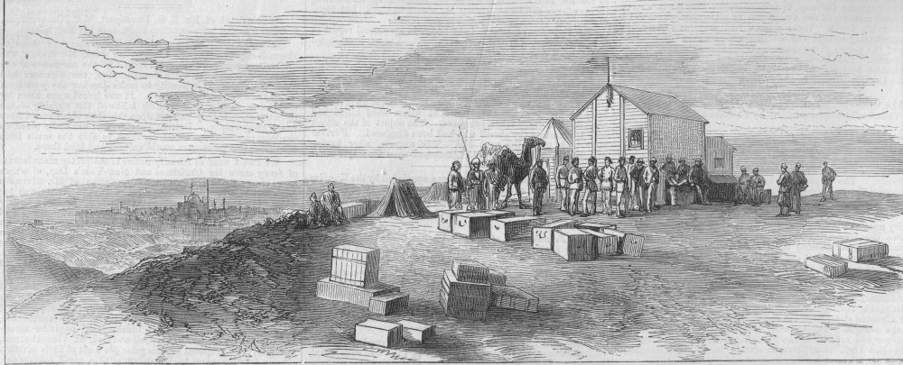 Associate Product EGYPT. Station near Cairo for observing the transit of Venus, old print, 1874