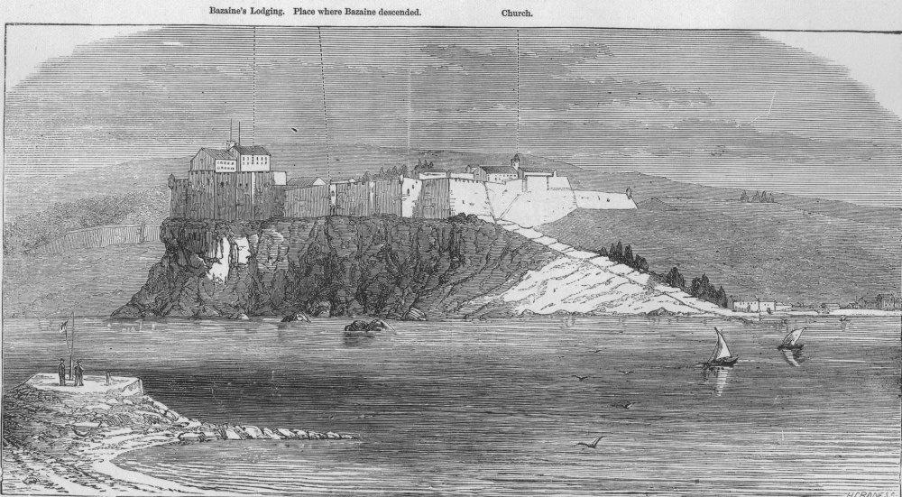 Associate Product FRANCE. Marshal Bazaine's escape from Île Sainte-Marguerite. View, print, 1874