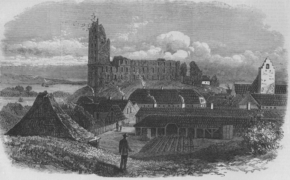Associate Product DENMARK. Koldinghus castle, antique print, 1871