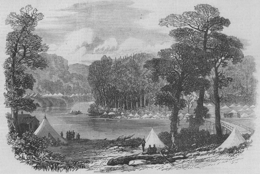 Associate Product CANADA. Wolseley Expedition. Red River Expedition. Camp Malawin Brdg, 1871