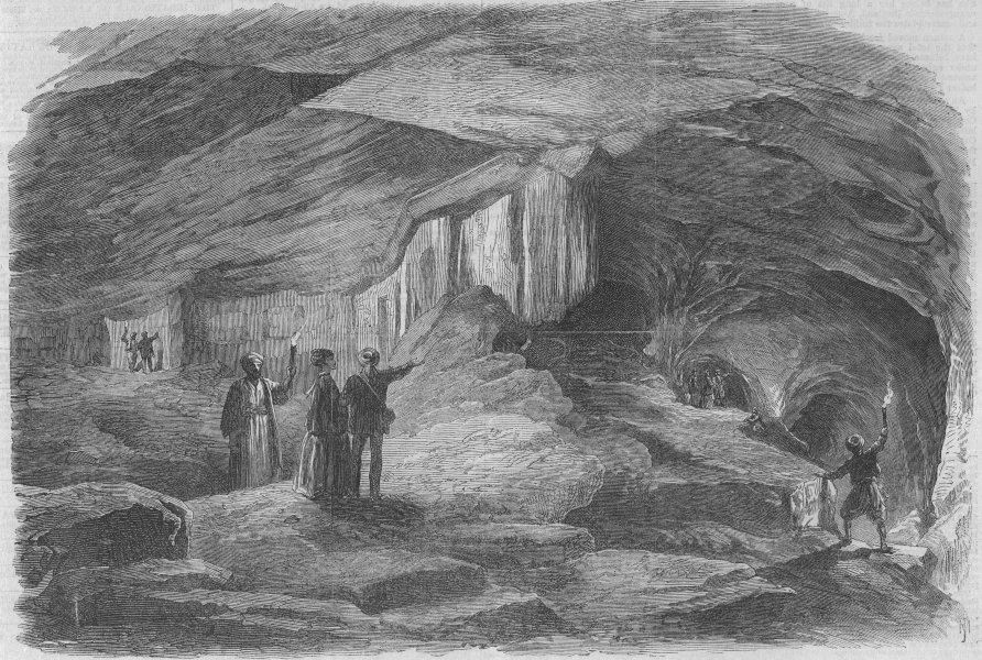 Associate Product JERUSALEM. The Royal Caverns. Palestine, antique print, 1869