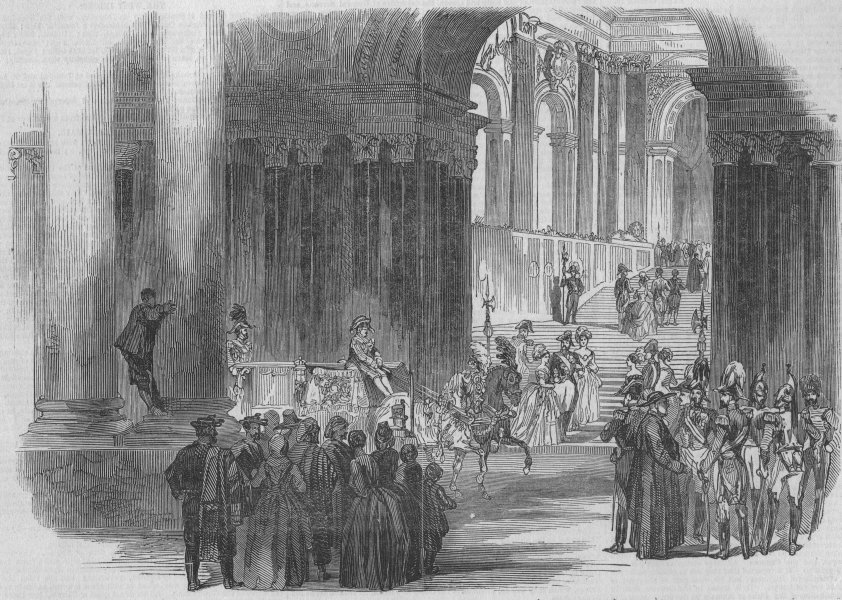 Associate Product MADRID. Arrival of Queen Christina at the Royal Palace. Spain, old print, 1847
