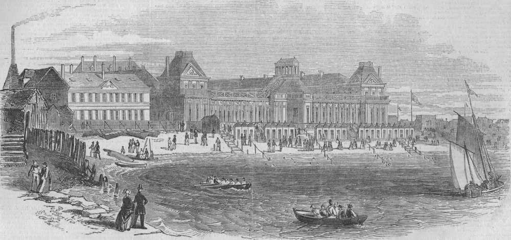 Associate Product ITALY. Frascati-les bains de mer, antique print, 1847