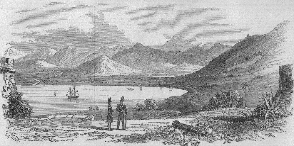 Associate Product ALGERIA. Béjaïa. Kabylia-Plain of Béjaïa, from the ramparts, antique print, 1847