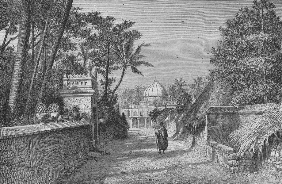 Associate Product THIRUCHCHIRAPALLI. Tiruchirappalli. Mosque of Nuthur. India, old print, c1875