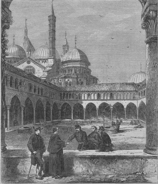 Associate Product PADOVA. St Antonio convent, at Padua, occupied as an Italian Military Post, 1866