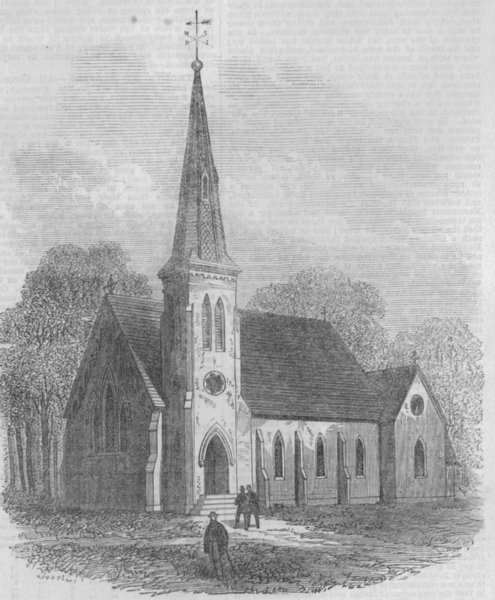 Associate Product CANADA. St Paul's church (Indian Mission) Brantford, Canada West, print, 1867