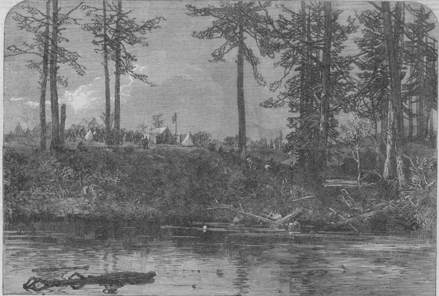 Associate Product CANADA. First breaking ground for the Lake Huron and Ontario ship canal, 1866