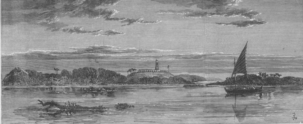 Associate Product ANDAMAN ISLANDS. New Iron Lighthouse, Table Island, Cocos Group. India, 1867