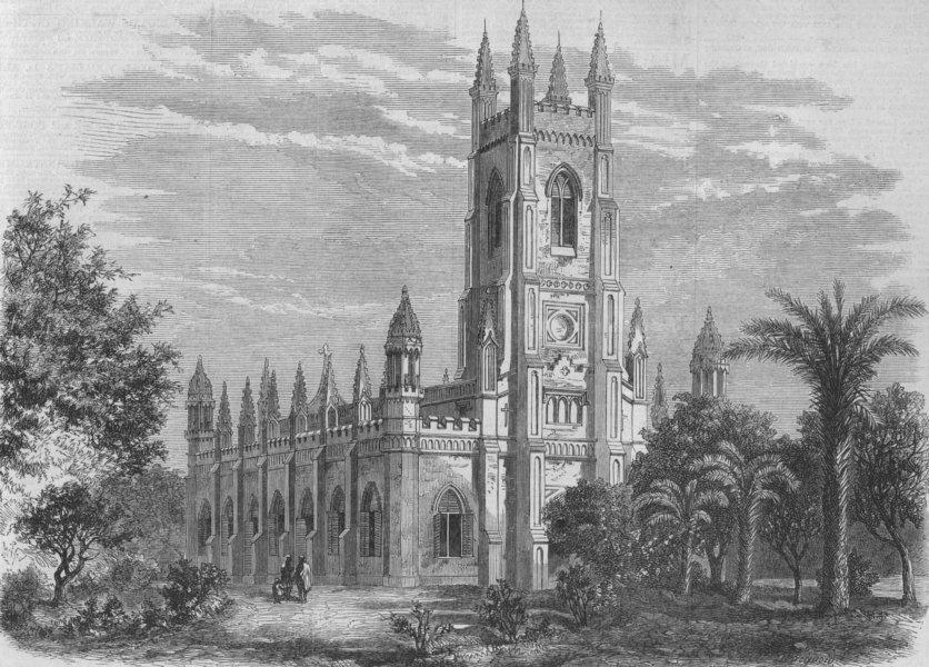 Associate Product KANPUR. Kanpur. Memorial church. India, antique print, 1868