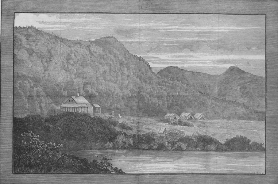 Associate Product CANADA. Wooden houses erected for Princess Louise and her ladies, print, 1880