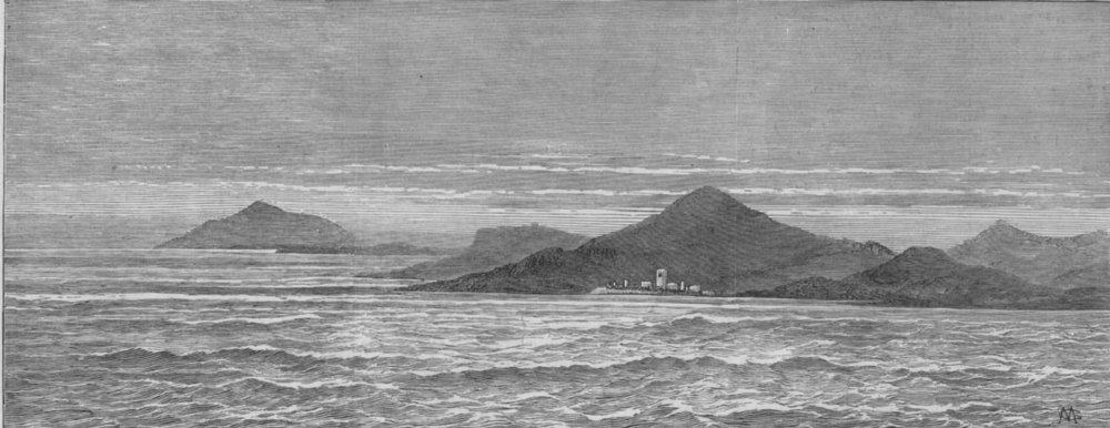 Associate Product SOUTH AFRICA. Cape Agulhas, where the mail steam-ship Teuton was wrecked, 1881