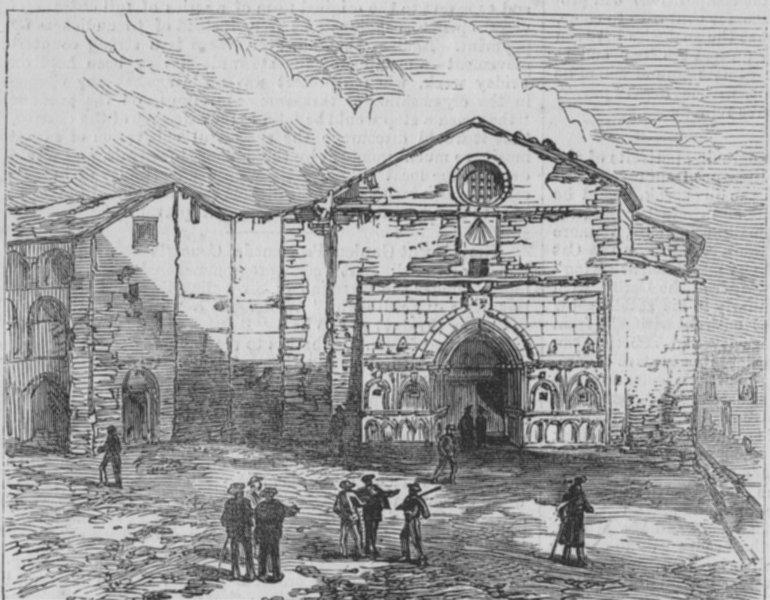 Associate Product PUYCERDA. First Spanish Republic. The war in Spain. Convent of St. Domingo, 1874