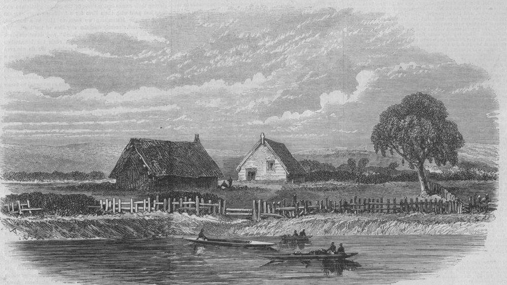 Associate Product NEW ZEALAND. Scene of the murder of the Rev. Mr Volkner, at Opotiki, print, 1865