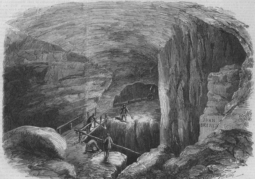 Associate Product KENTUCKY. The Maelstrom, in the Mammoth Cave, antique print, 1859