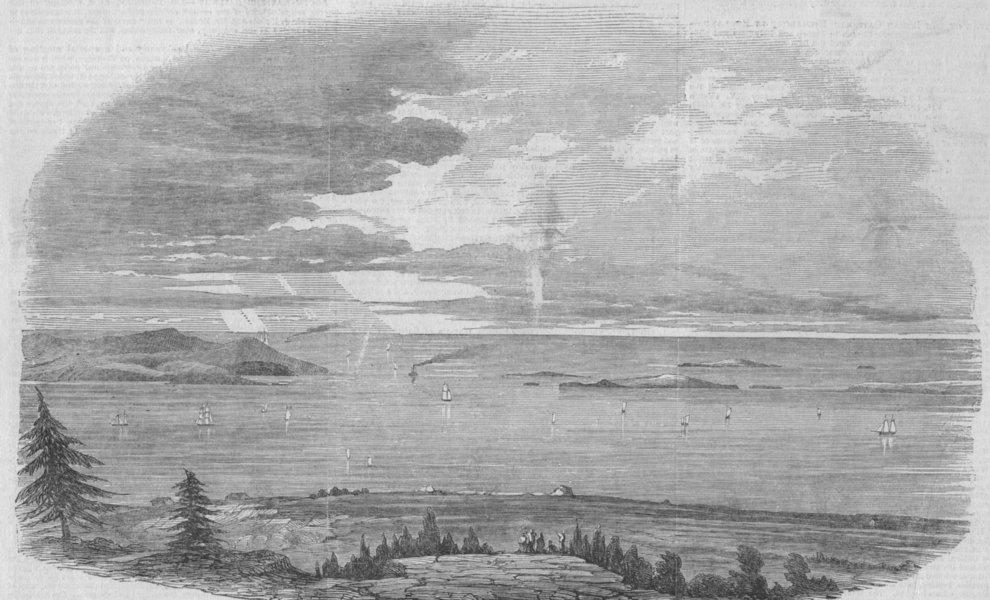 Associate Product CAPE BRETON. Louisburg harbour. Canada, antique print, 1850