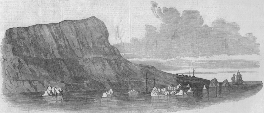 Associate Product CANADA. Cape Riley, Wellington Channel, Barrow's Straits. Camp remains, 1850