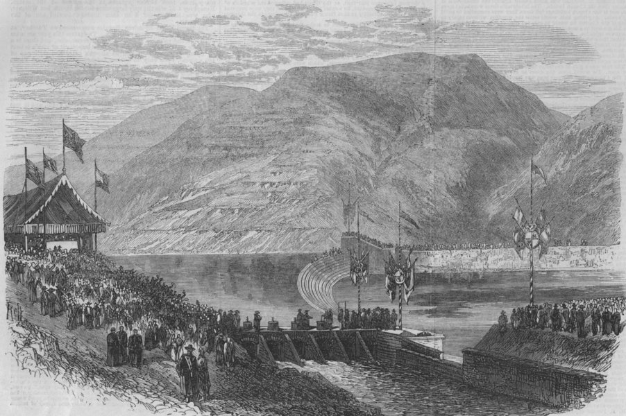 Associate Product SPAIN. Opening of the Henares canal of the Iberian Irrigation Company, 1867