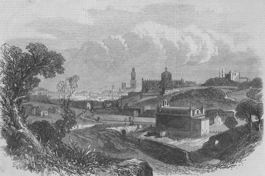 Associate Product SPAIN. Xeres de la Frontera, near Seville, antique print, 1867