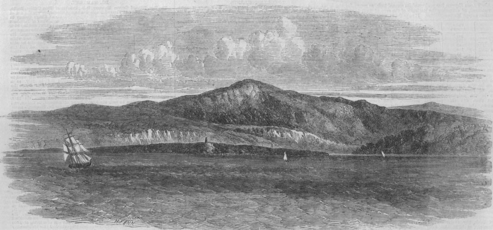 Associate Product CANADA. Bic island, St Lawrence River, antique print, 1862