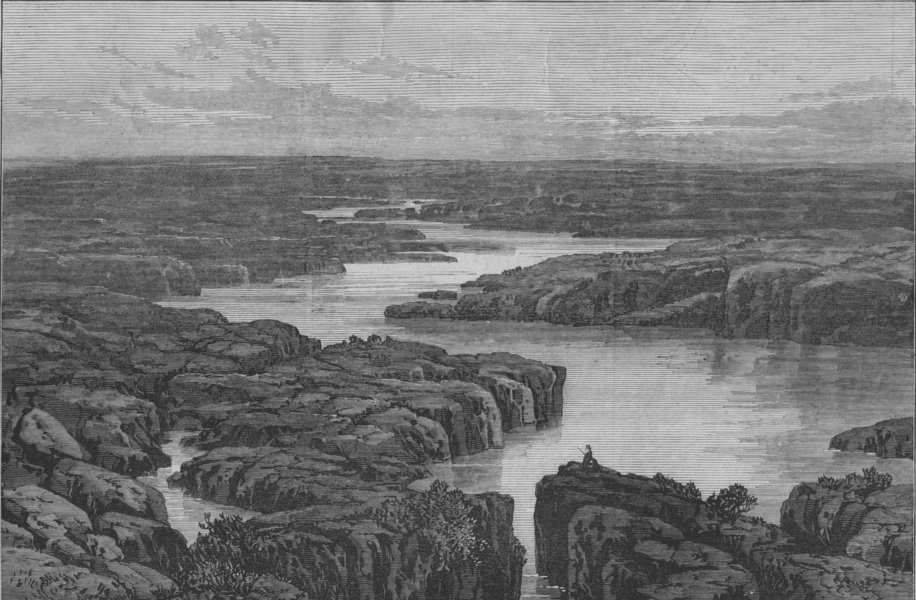 Associate Product OREGON. The Modoc Indian War. Lower Klamath Lake, scene of the massacre, 1873