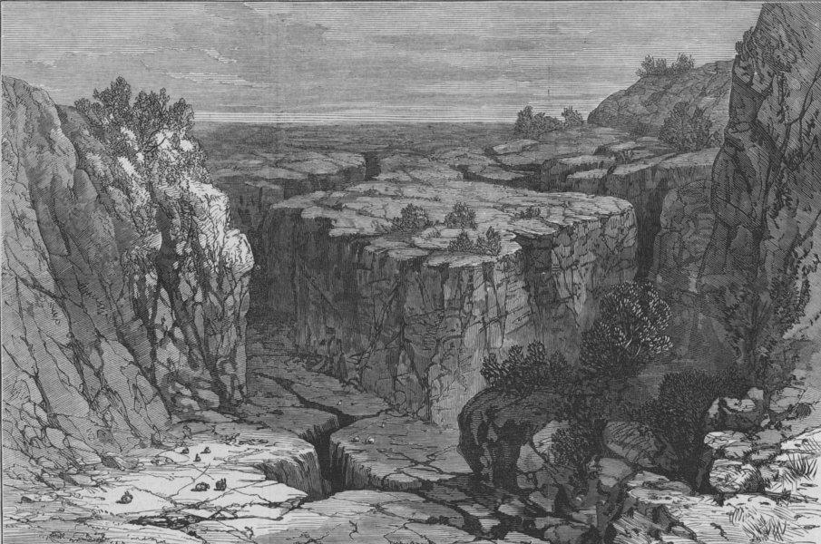 Associate Product OREGON. The Modoc War. The Modoc Indian War. The Lava Beds, Oregon, print, 1873