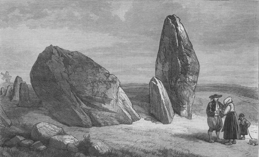 Associate Product FRANCE. Carnac stones. Druidic remains of Brittany. Stones of St Barbe, 1871