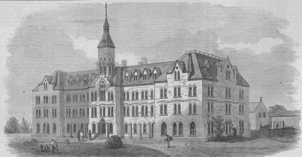 Associate Product ONTARIO. Belleville Institution for the deaf and dumb, Hastings county, 1871