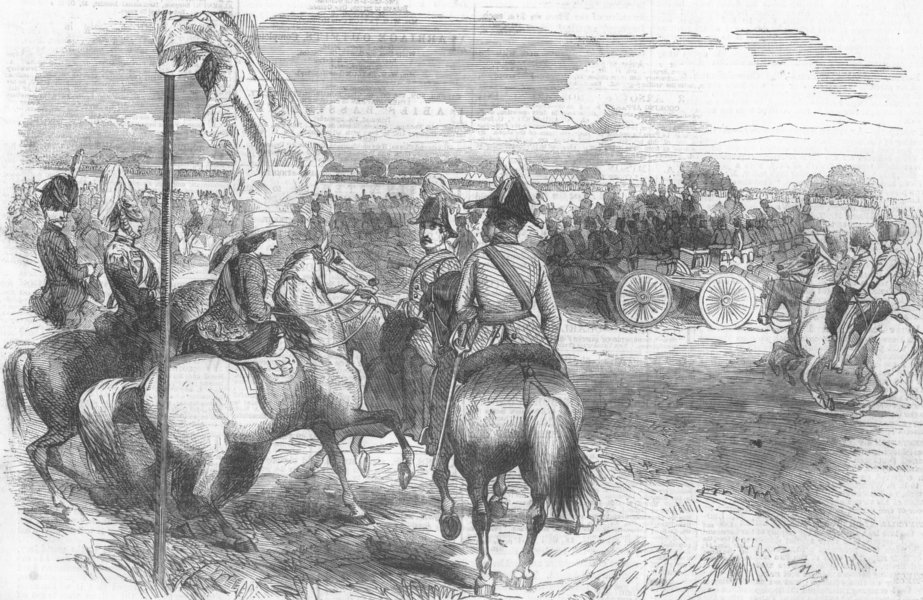 Associate Product WOOLWICH. Queen reviewing the Royal Artillery returning from the Crimea, 1856