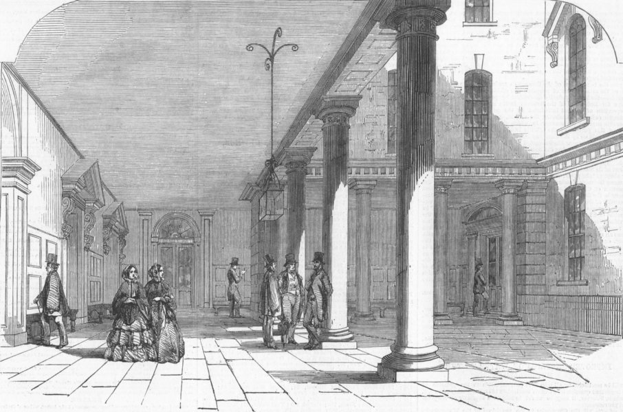 Associate Product CITY OF LONDON. The South Sea House, Threadneedle-Street-the Quadrangle, 1855