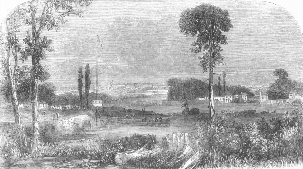 Associate Product KENSINGTON GORE ESTATE. Proposed site of the National Gallery. London, 1856