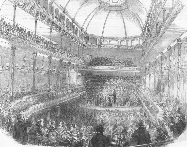 Associate Product LONDON. Royal Surrey Gardens. The new Music Hall at the Surrey Gardens, 1856