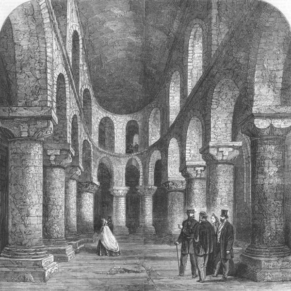 Associate Product TOWER OF LONDON. Chapel of St. John, in the White Tower, antique print, 1863
