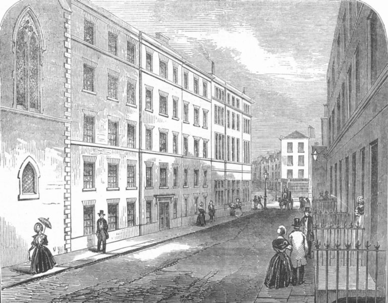 Associate Product LONDON. Model lodging-house, St. Giles's, antique print, 1847