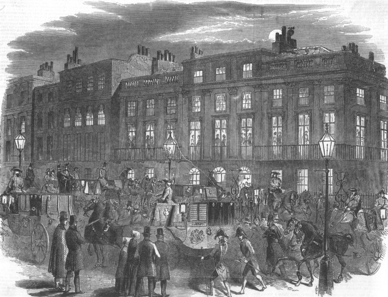 Associate Product LONDON. The London Season-the Arrival, antique print, c1847
