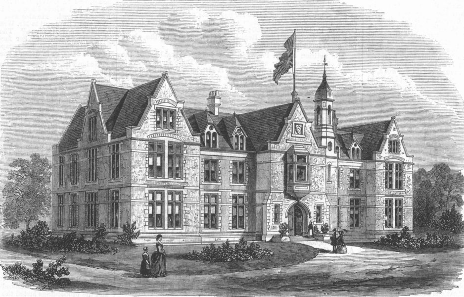 Associate Product HAMPSTEAD. The Sailors' daughters' home, opened by Prince Arthur, print, 1869