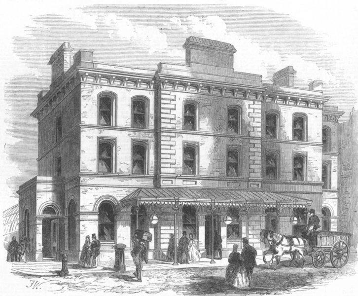 Associate Product ALDERSGATE STREET. The New Station of the Metropolitan Railway. London, 1866