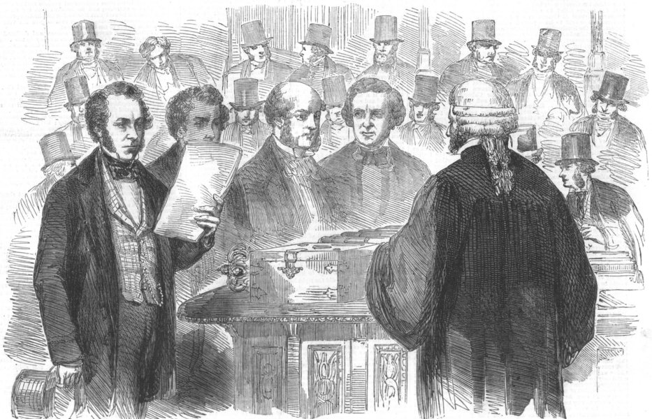 Associate Product HOUSE OF COMMONS.China debate.Opposition (Cobden & Gibson) reading result, 1857
