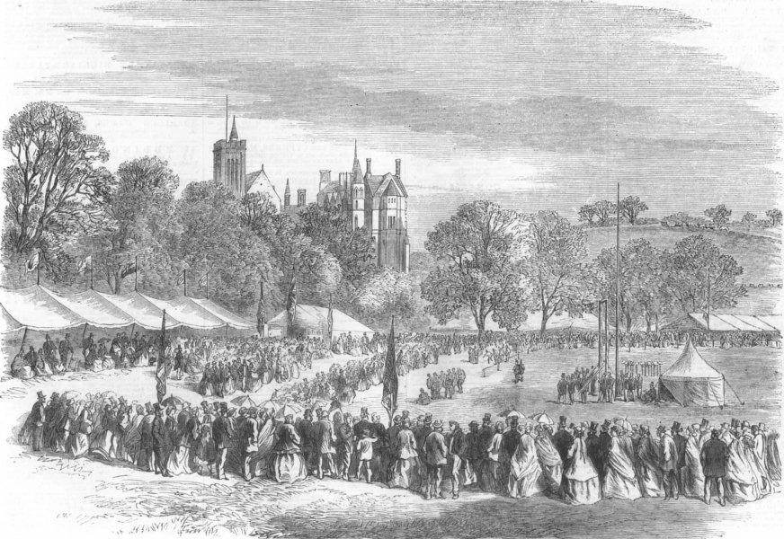 Associate Product LANCASTER.Floral musical & athletic festival. Springfield Park. Lancashire, 1865