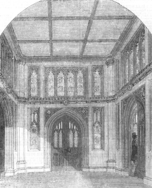 Associate Product PALACE OF WESTMINSTER. Vestibule to the Library of the House of Commons, 1857