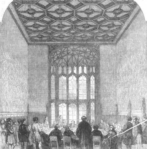 Associate Product HOUSE OF COMMONS. Palace of Westminster. Committee-Room. London, old print, 1857