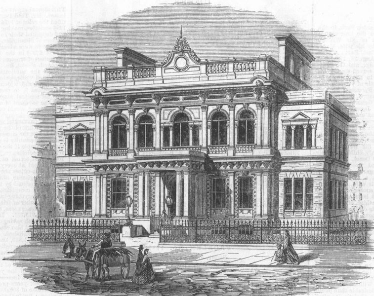 Associate Product HACKNEY. New Town Hall. London, antique print, 1866