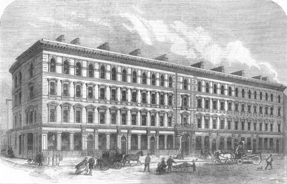 Associate Product LEADENHALL-STREET. Buildings built on site of the old India House. London, 1866