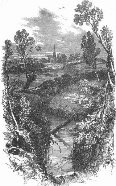 Associate Product HAMPSTEAD. The Fleet-sketched near Hampstead. London, antique print, 1854