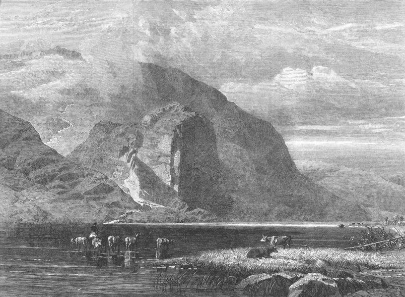Associate Product NORTH WALES. Craig CWM Bychan, Llyn Cwellyn. Wales, antique print, 1866