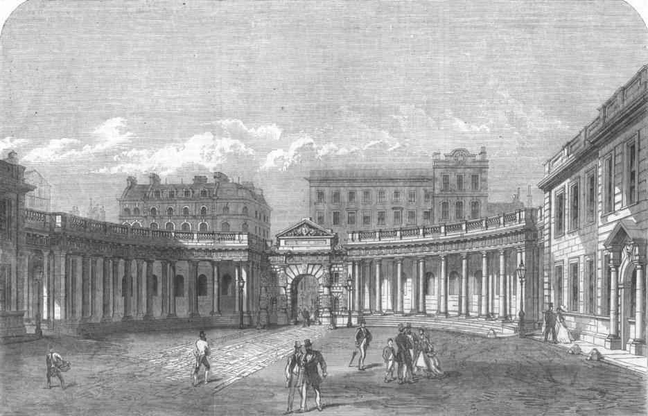 Associate Product BURLINGTON HOUSE. The Colonnade. London, antique print, 1866
